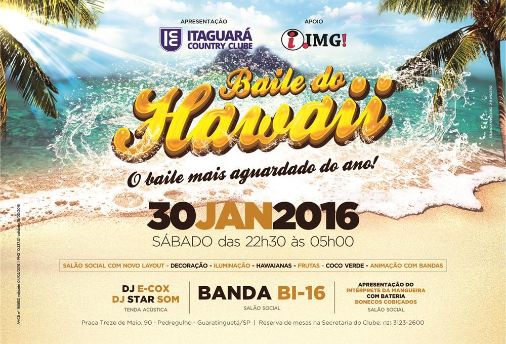 baile do hawaii 2016  itaguar u00e1