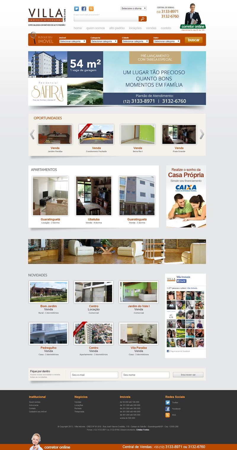 Site Villa Imóveis 2013
